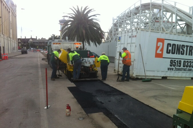 Commercial Paving job Luna Park