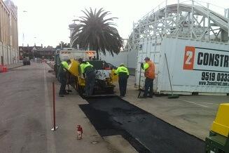Commercial Asphalt Paving Job at Luna Park, St Kilda