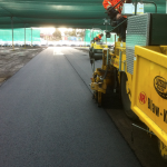 asphalt paving laneways at laverton car storage