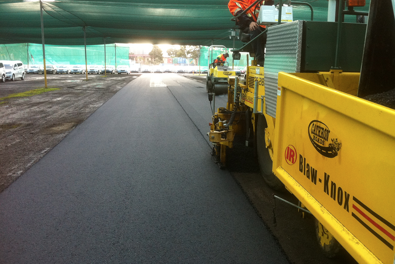Asphalting at Laverton Car Storage
