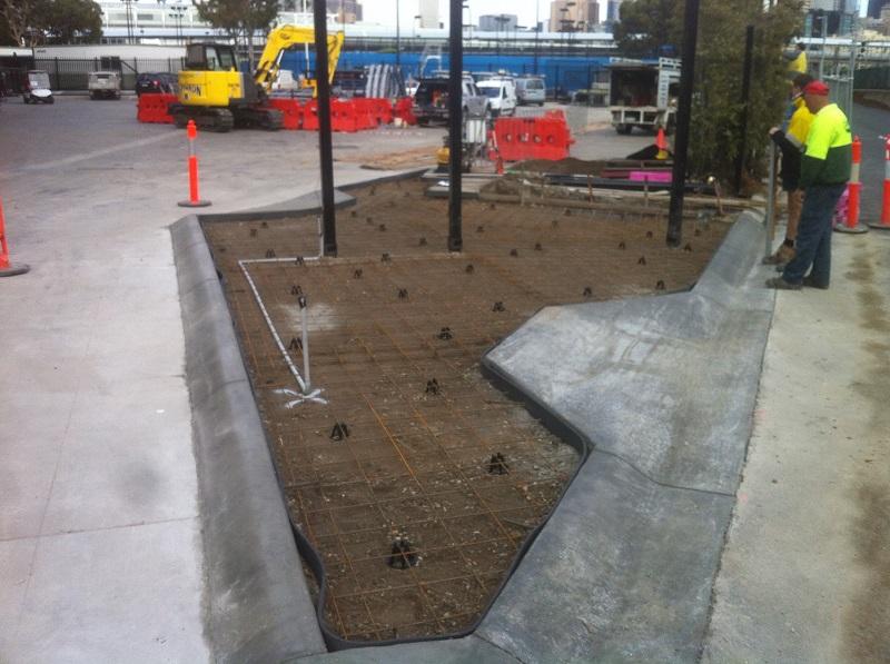 Splitter Island Construction Hisense Arena Melbourne